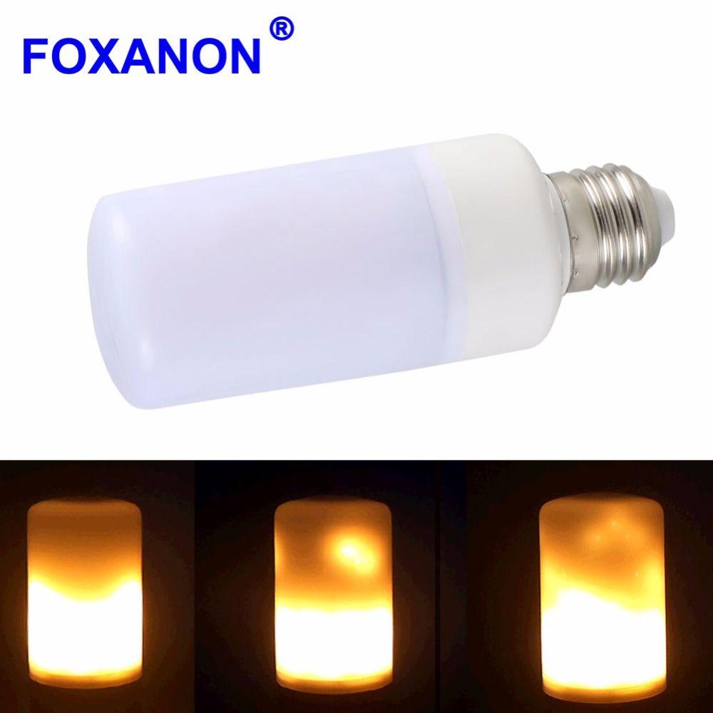E27 B22 Led Flame Lamps Fire Effect Light Bulb E14 110V 220V Flickering Emulation flame Lights E12 E26 LEDs corn bulb New Year