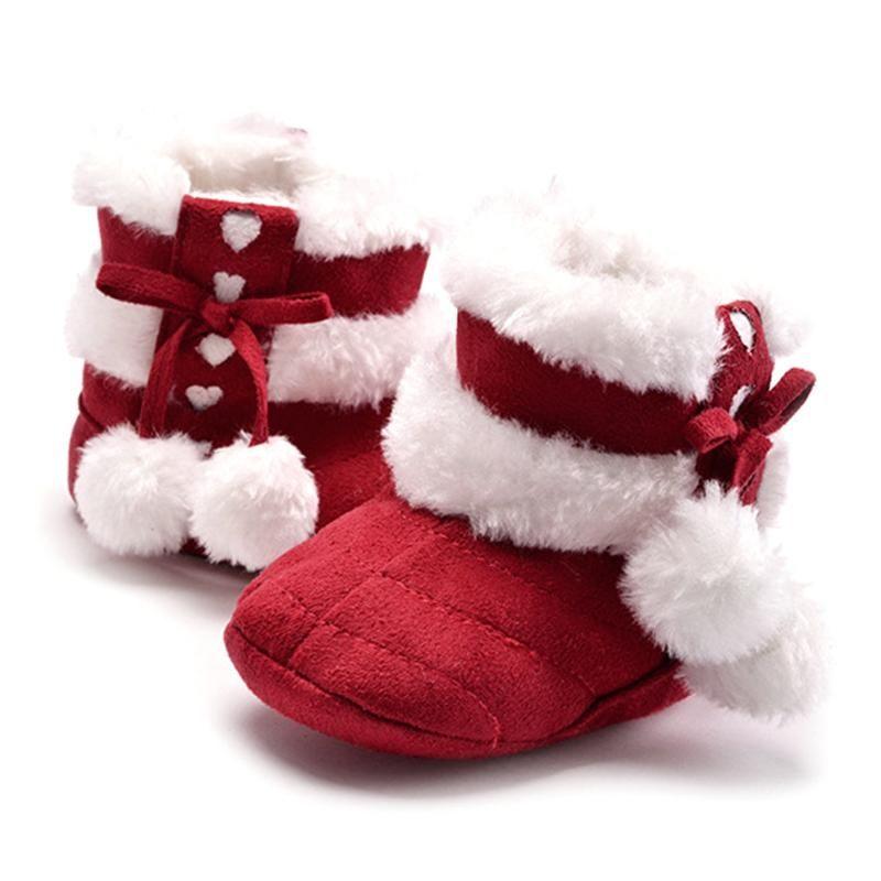 Winter Schnee Stiefel Für Baby Mädchen Super Warm Baumwolle Tuch Schuhe Für Mädchen Babys Bowknot Bälle Prinzessin Schuhe