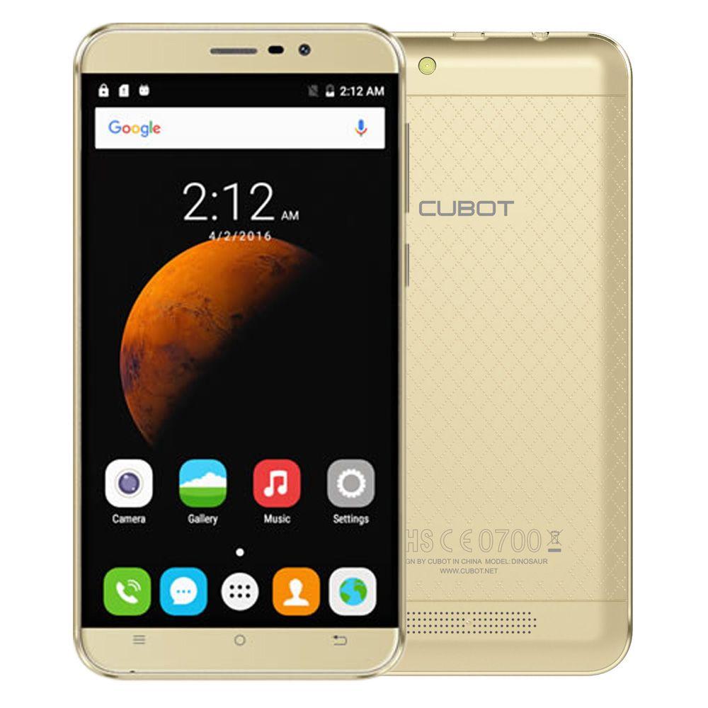 Original Cubot Dinosaur 5.5 Inch HD Screen MTK6735A Quad Core Smartphone 3GB RAM+16G ROM Cell Phone 4150mAh Mobile Phone