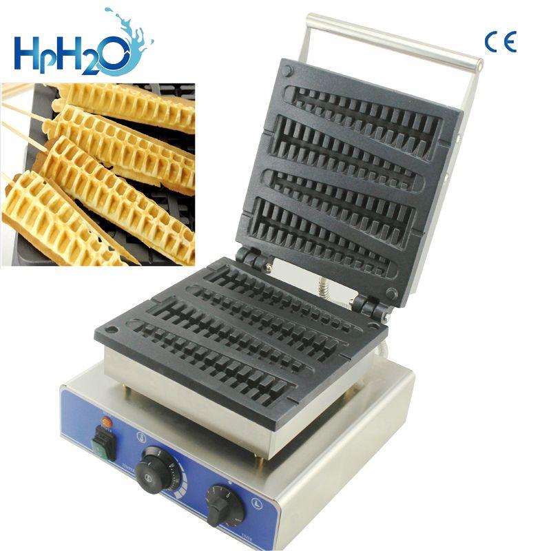 Kommerziellen CE Elektrische 110 V 220 V stücke am stiel stick waffeleisen maschine Waffel Stick Baker Waffel Eisen kuchen ofen