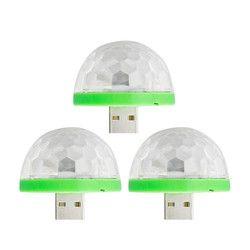 DC 5 فولت الصمام المرحلة ضوء 3 واط Led ديسكو الكرة أضواء 2 وضع البسيطة الليزر المرحلة الإضاءة USB واجهة مصباح ل شريط المنزل حزب الديكور