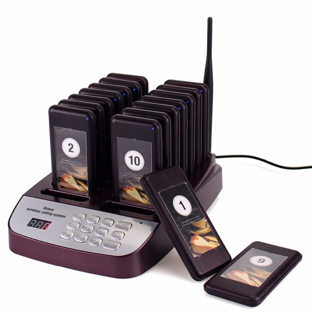 TIVDIO T-113 Waiter Calling System Restaurant Pager Wireless Paging Queuing System Buzzer Quiz Customer Service Equipment F9403D