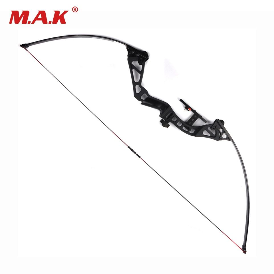 Adjustable Straight Pull American Recurve Bow Length 60 Inches 30-50 Pounds Adjustable for Archery Hunting Shooting