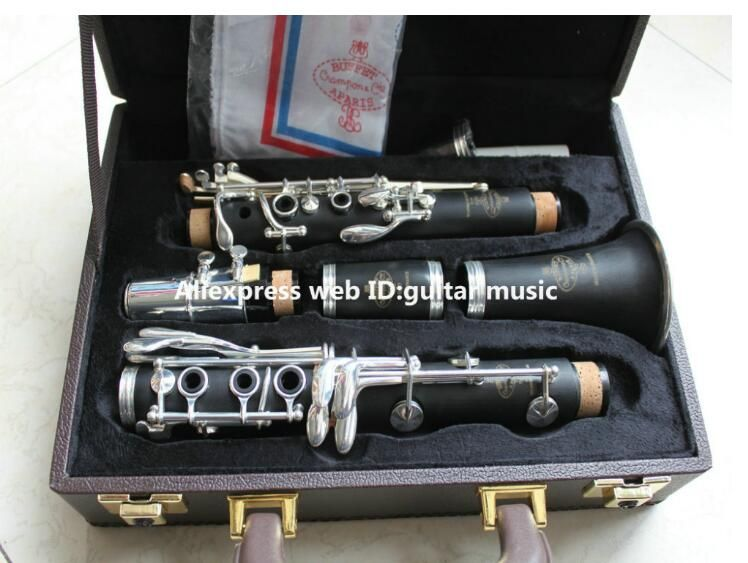 Copy Buffet R13 Clarinet Students Bb Clarinet 17 key Nickel Silver Real wood with Case Top Selling From China Free Shipping