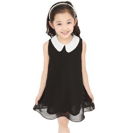 Robe d'été en mousseline de soie nouvelle robe de fille nouvelle livraison gratuite pour 3-11 âge arc floral filles princesse fête arc enfants robe formelle 23