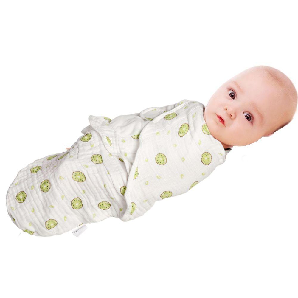 Ainaan пеленать Одеяла может регулируемая маленьких Обёрточная бумага для ребенка пеленание Обёрточная бумага Одеяла сделано в 4 слоя мягкий ...