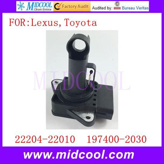 New Mass Air Flow Sensor Meter OEM 22204-22010 197400-2030 for Lexus Toyota