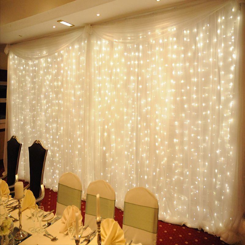 Twinkle Star 4.5*3M 300 LED Window Curtain String Light for Wedding Party Home Garden Bedroom Outdoor Indoor Wall Decorations