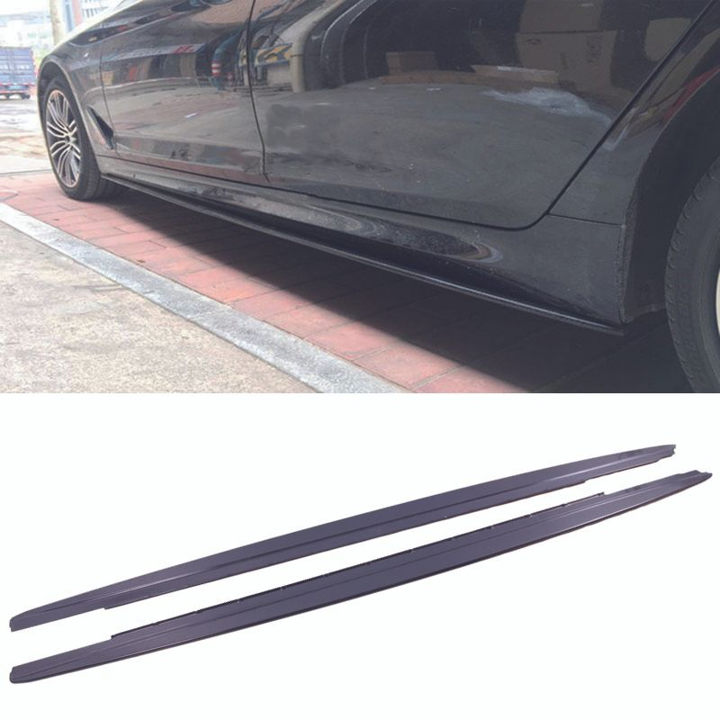M-P Style Carbon fiber Side Skirt Extensions 1pair Fit For BMW 5-Series G30