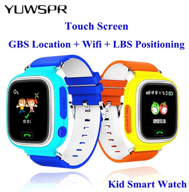 2018 GPS tracking Watches for kids touch screen WIFI Baby clock SOS call location Device smart watch Anti Lost Monitor Q90 G72