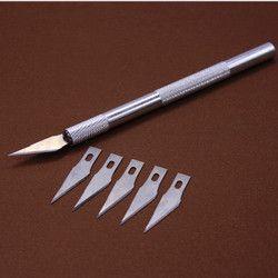 Non-Slip Métal Scalpel Couteau Outils Kit Cutter Gravure Artisanat couteaux + 6 pcs Lame Mobile Téléphone Ordinateur Portable De Réparation De BRICOLAGE À La Main outils