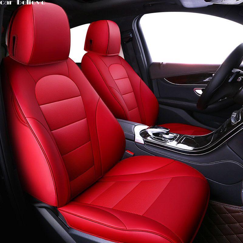 Auto Glauben auto sitz abdeckung Für vw golf 4 5 VOLKSWAGEN polo 6r 9n passat b5 b6 b7 Tiguan zubehör abdeckungen für fahrzeug sitz