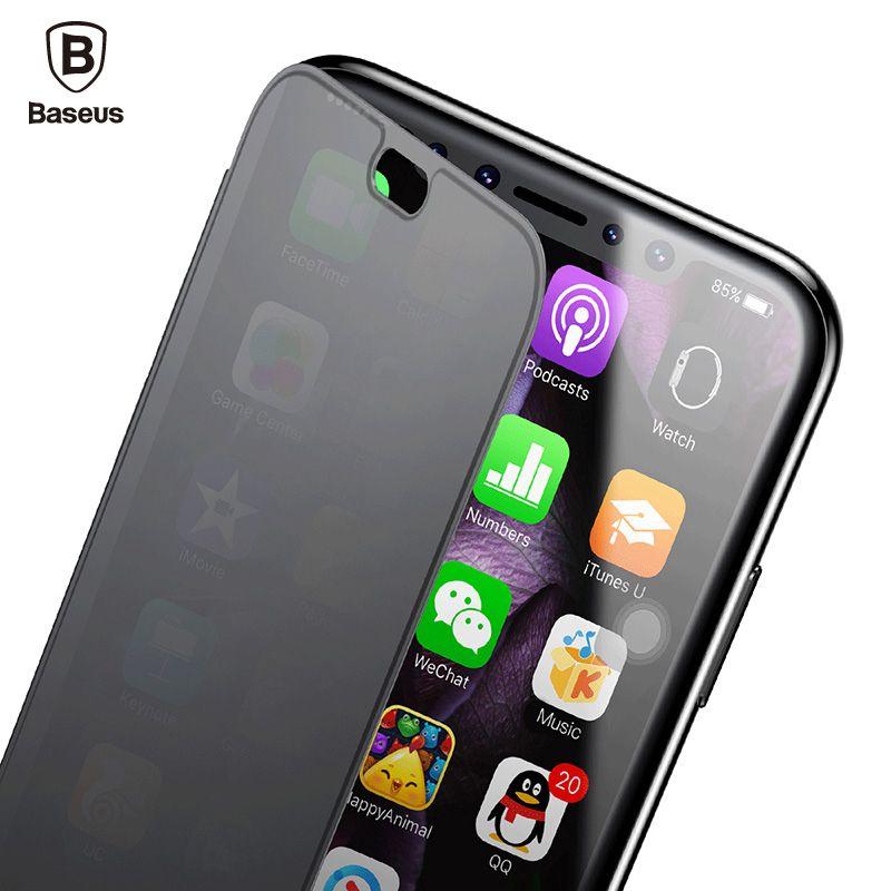 Baseus Slim Flip Cas Pour iPhone X 360 Full Body De Protection TPU Cas Pour iPhone X 10 Plein Écran Protecteur Fenêtre Couverture coquilles