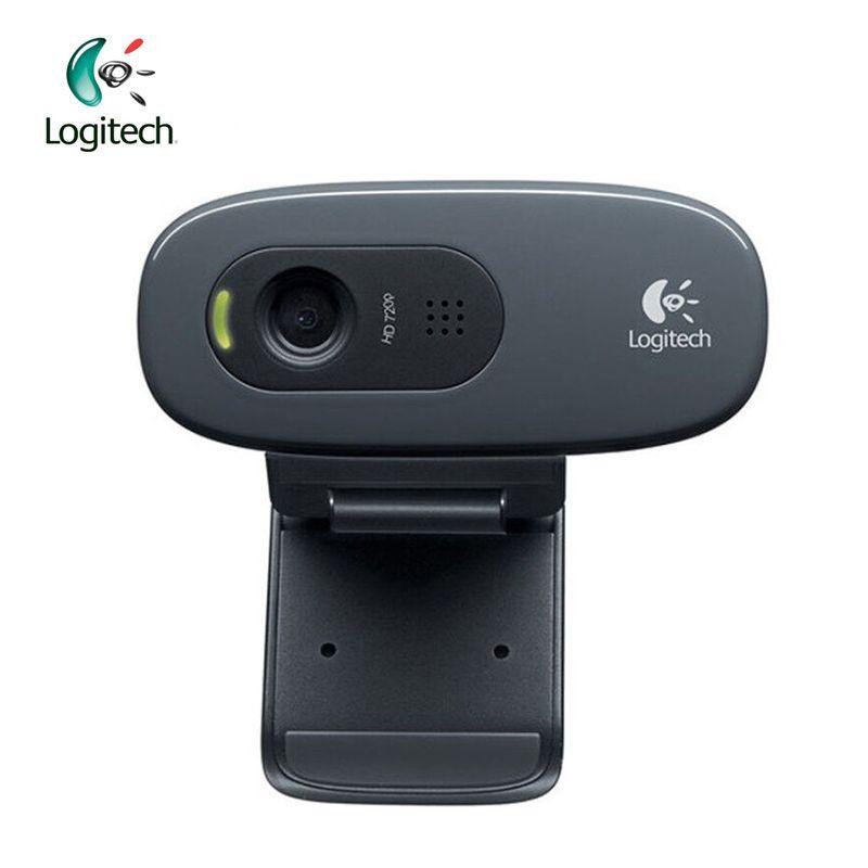 Logitech C270 HD Vid 720 p Webcam mit Micphone USB 2.0 Unterstützung Offizielle Test für PC Lapto Video Aufruf