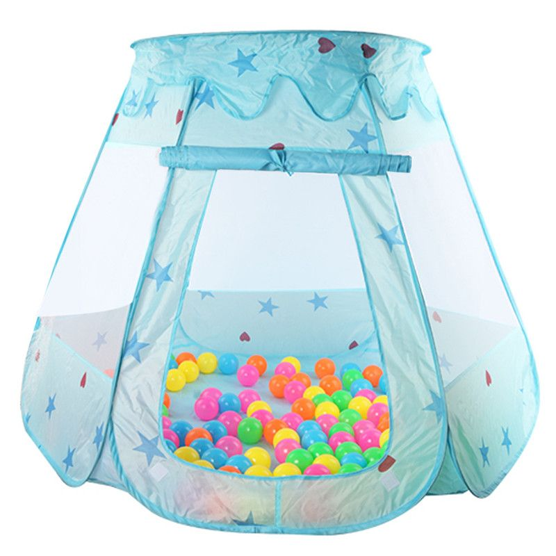 Indoor Outdoor Polyester Play House <font><b>Baby</b></font> Ocean Ball Pit Pool Play Tent Kids Princess Hexagonal Tent Children <font><b>Baby</b></font> Tent Ball Pool