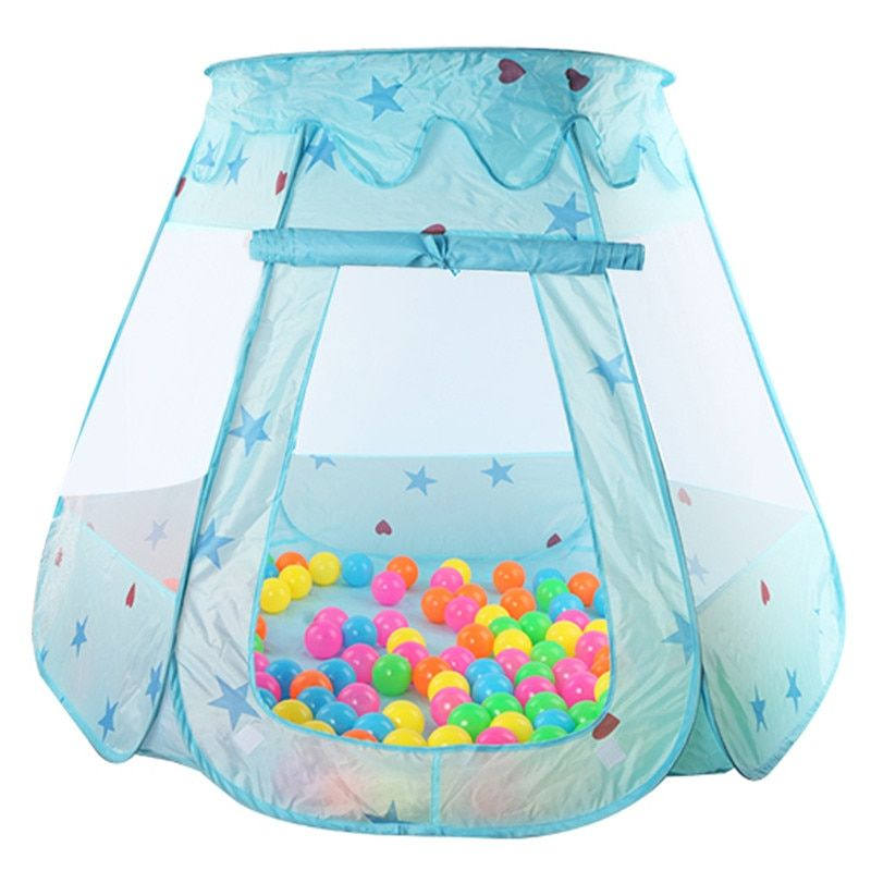 Indoor Outdoor Polyester Play <font><b>House</b></font> Baby Ocean Ball Pit Pool Play Tent Kids Princess Hexagonal Tent Children Baby Tent Ball Pool