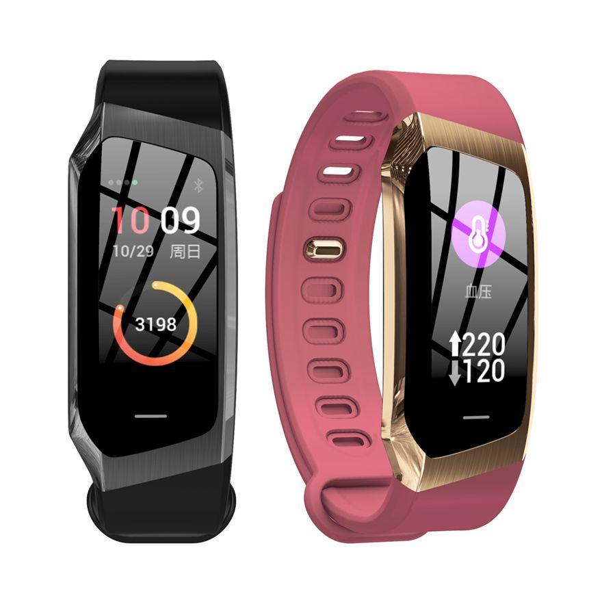 E18 Smart Band 2019 Color Touch Screen ip67 Waterproof Blood Pressure Oxygen Heart Rate Monitor Sport Bracelet Talk Band Mi 2 3
