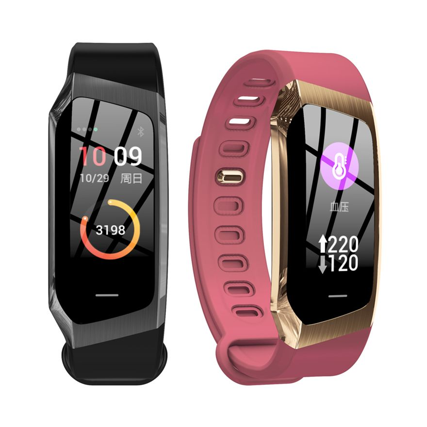 E18 Smart Band 2019 Color Touch Screen ip67 Waterproof Blood Pressure Oxygen Heart Rate Monitor Sport Bracelet Talk Band Mi 2 3