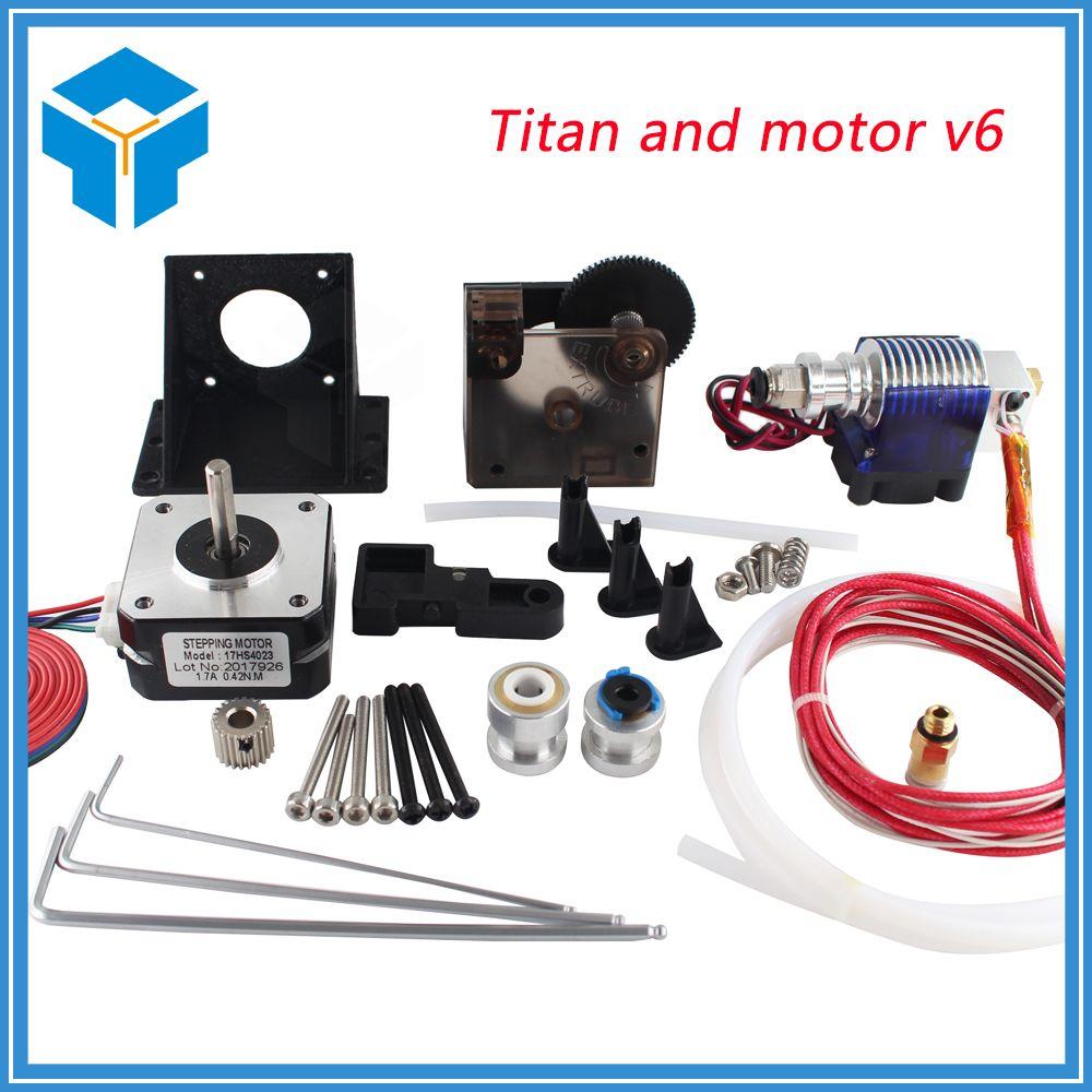 Titan Extrudeuse Kit Complet avec NEMA 17 Moteur pas à pas pour Imprimante 3D ssupport les deux Entraînement Direct et Bowden Support De Montage