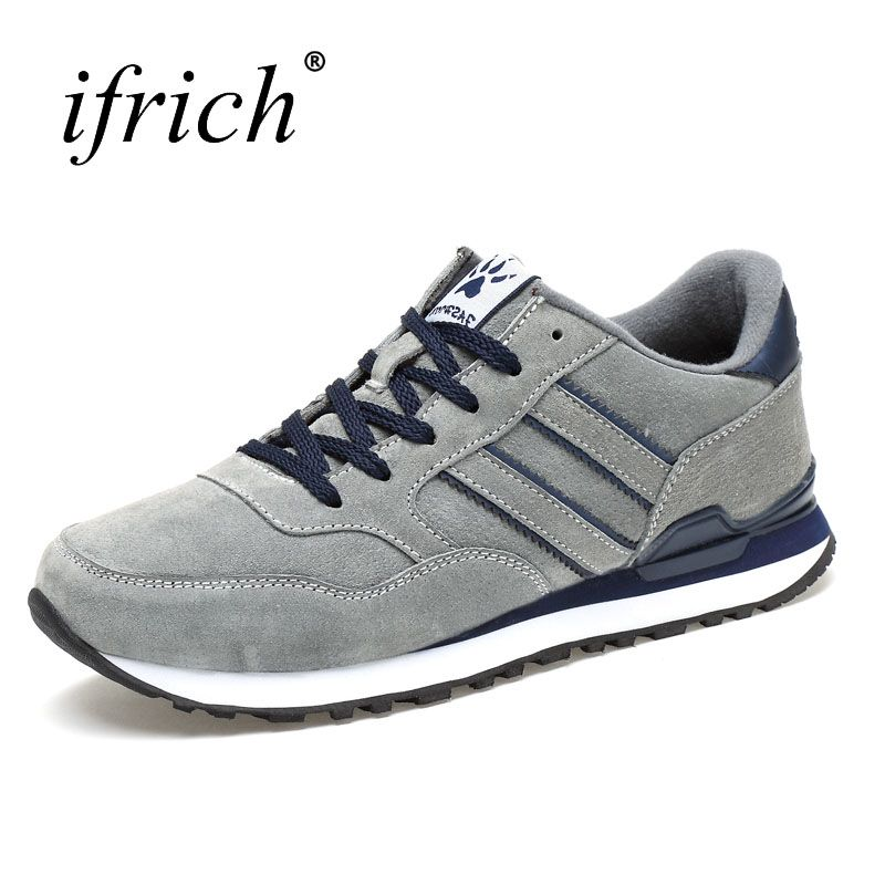 Ifrich 2017 New Arrival Autumn Winter Men's Trainers Sneakers Running Shoes Comfortable Jogging Sneakers Mens Sport Trainers