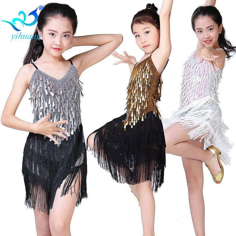 Enfants danse latine robe filles salle de bal danse compétition robes enfants Salsa/Tango/Cha Cha Rumba scène Performance tenues