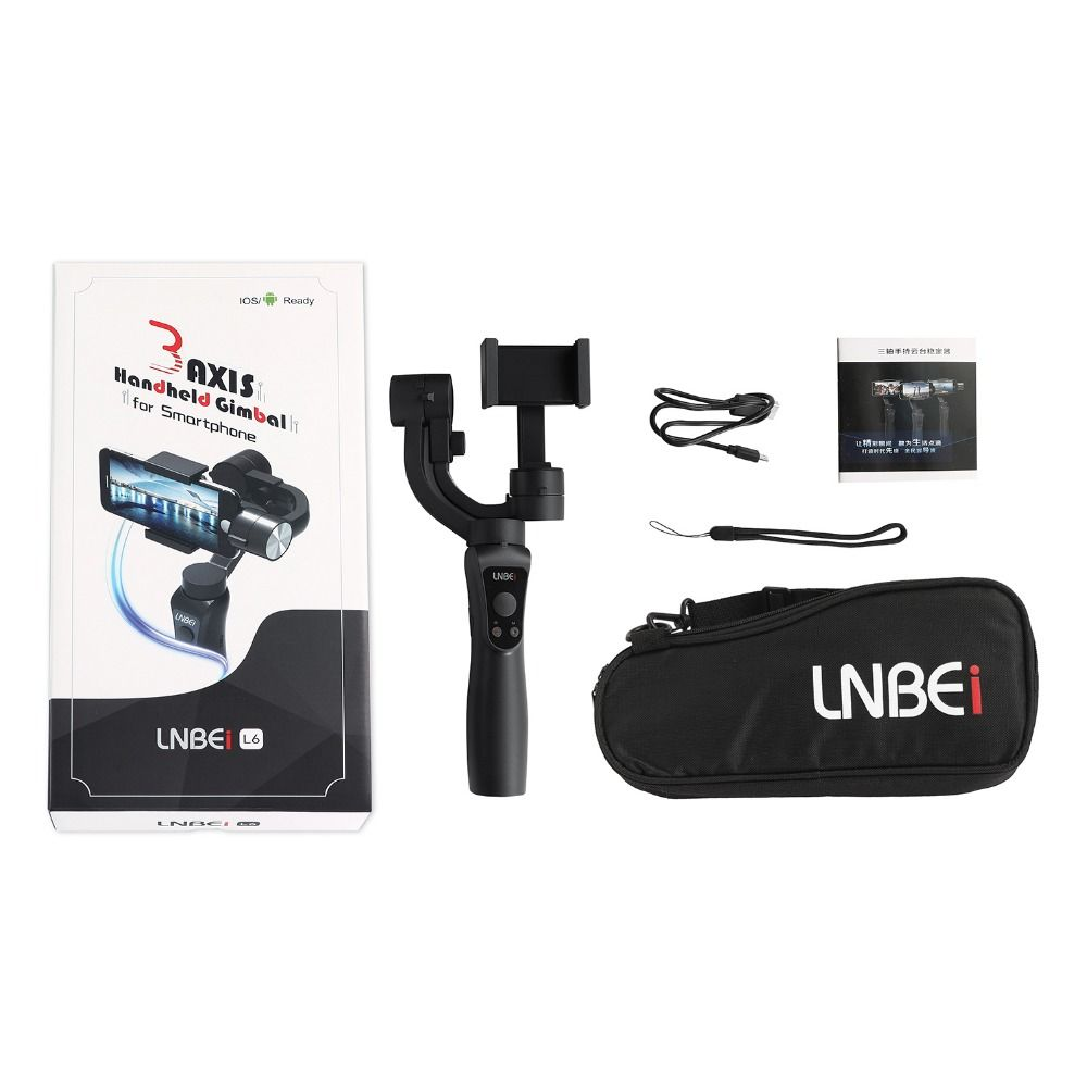 Newest Smooth 3-Axis Handheld Gimbal Portable Stabilizer for iPhone 8 X Xiaomi Samsung S9 S8 S7 Smartphone Gopro Action Camera