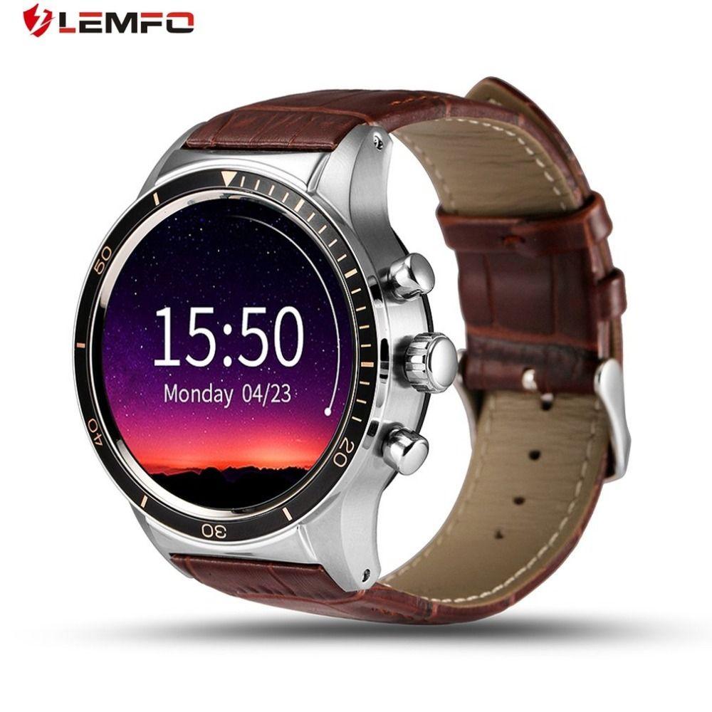LEMFO Y3 Android Montre Smart Watch Avec Sim Slot Bluetooth Connectivité pour Android Téléphone Smartwatch Wifi GPS Intelligent Montre-Bracelet