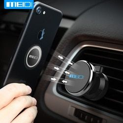 MEIDI Car Phone Holder Air Vent Mount Holder For Mobile Bracket For iPhone Xiaomi Samsung Holder Stand Magnetic Phone Holder