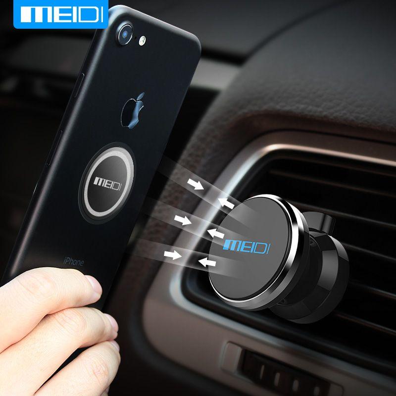 MEIDI Téléphone De Voiture Support 360 Degrés Réglable Air Vent Mount Magnet titulaire Support Mobile Pour iPhone 6 7 Mobile Téléphone De Voiture Stand