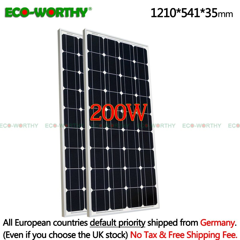 2 PCS 100 W 18 V Monokristalline Solar power Panel für 12 V Batterie, home Solar Power & Freies Verschiffen solar panel zelle system 12 V 100 W