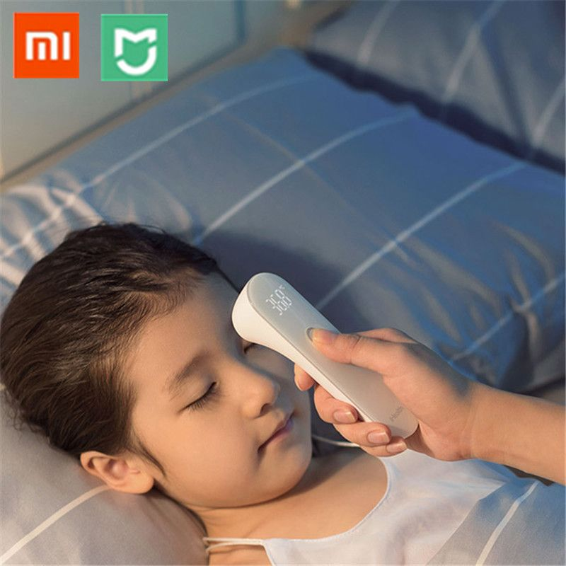 Xiaomi Mijia iHealth Thermometer Accurate LED Digital Fever Infrared Clinical Thermometer Non Contact Tester with Box & Battery