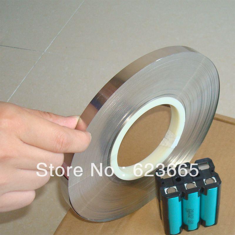 T0.15 W12mm pure nickel belt 18650 26650 li-ion battery nickel plate 0.15*12mm nickel terminal 99.9% pure nickel strip