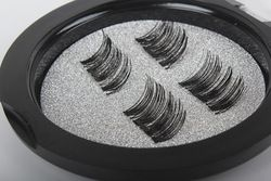 Professional 3D Double Magnetic Eyelashes Natural Beauty No Glue Reusable Fake False Eye Lashes Extension Handmade 4PCS