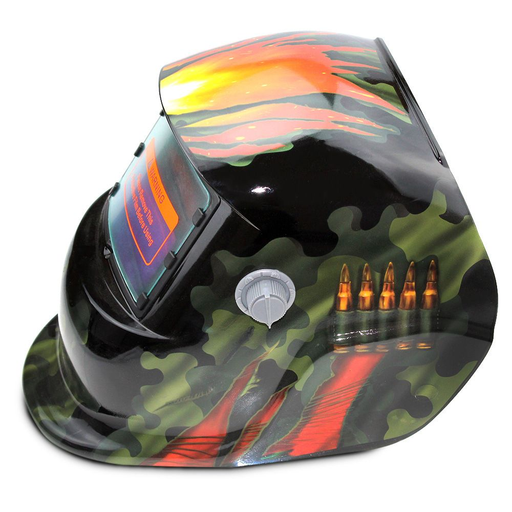 Solar Energy Automatic Changeable Light Electric Welding Protective Helmet with Natural Pattern