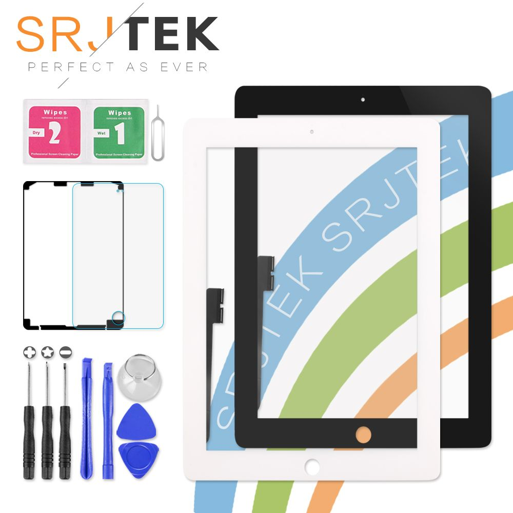 9.7 Touch Screen For iPad 3 4 iPad3 iPad4 A1416 A1430 A1403 A1458 A1459 A1460 Digitizer Sensor Glass Panel with Home Button