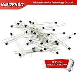 20 штук NTC-MF52AT MF52AT B 3950 5% NTC термистор терморезистор 1 K, 2K труба из углеродистого волокна 3K 4,7 K 5K 10K 20K 47K 50K 100K 5%