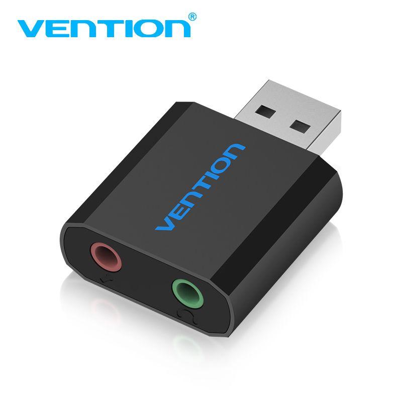 Convention Carte Son USB À Jack 3.5mm Femelle Casque Externe carte Audio USB Casque Adaptateur Pour Haut-Parleur PC Portable Amplificateur M