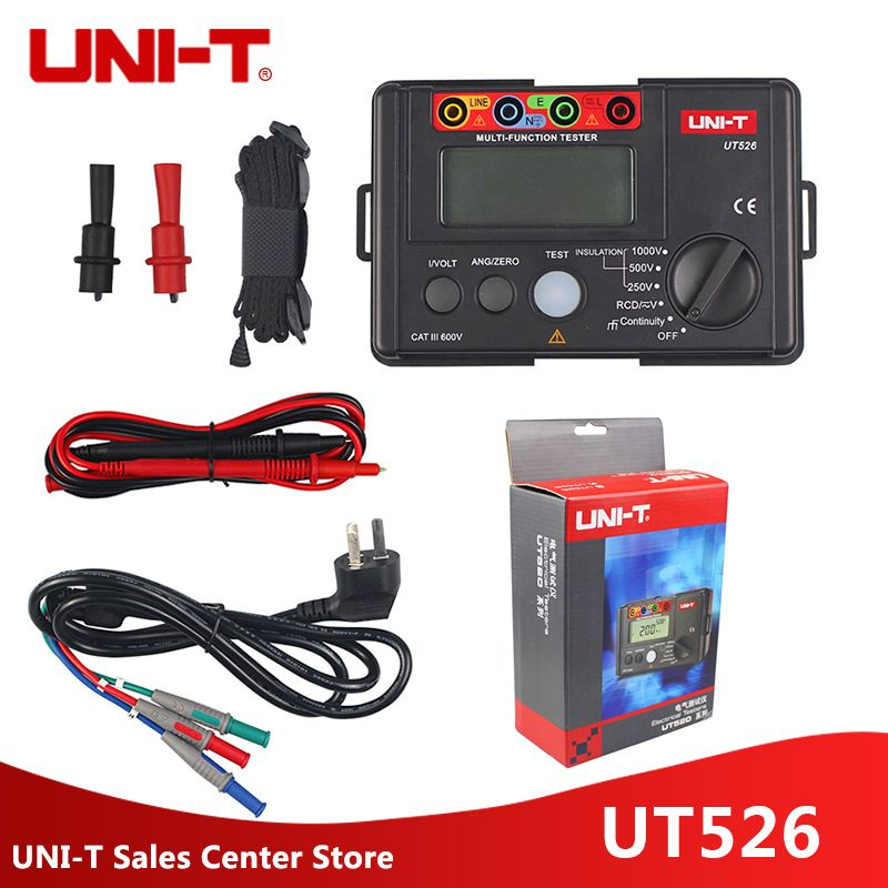 UNI-T UT526 Multi-function digital electric meter Electrical Insulation Tester UT526 Earth Resistance Meter+RCD Test Machine