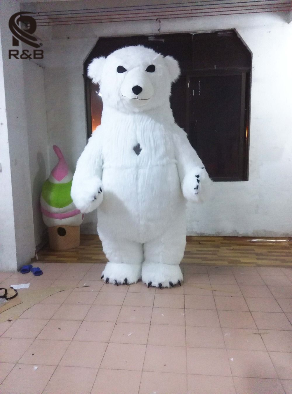 New Style Inflatable Costume Inflatable Polar Bear For Advertising 2M Tall Customize For Adult Suitable For 1.6m To 1.8m Adult