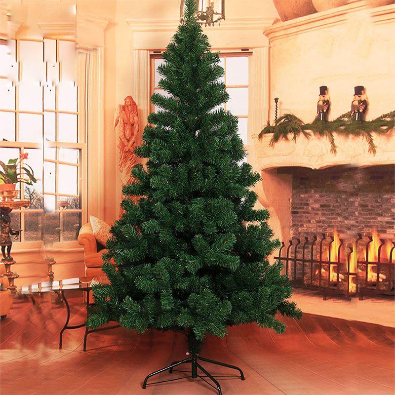 Christmas tree 1.2/1.5/1.8/2.1/2.4/3 m pet bare tree simulation green DIY Christmas New Year decorations Metal Stand