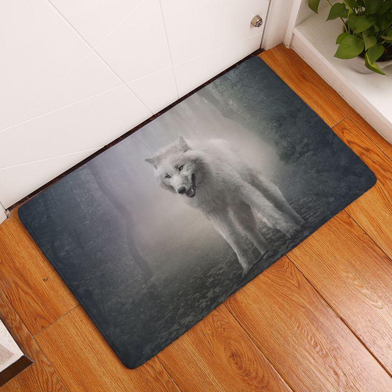 2017 nouveau Glacier animaux imprimer tapis anti-dérapant cuisine tapis pour la maison salon tapis de sol 40x60 cm 50x80 cm