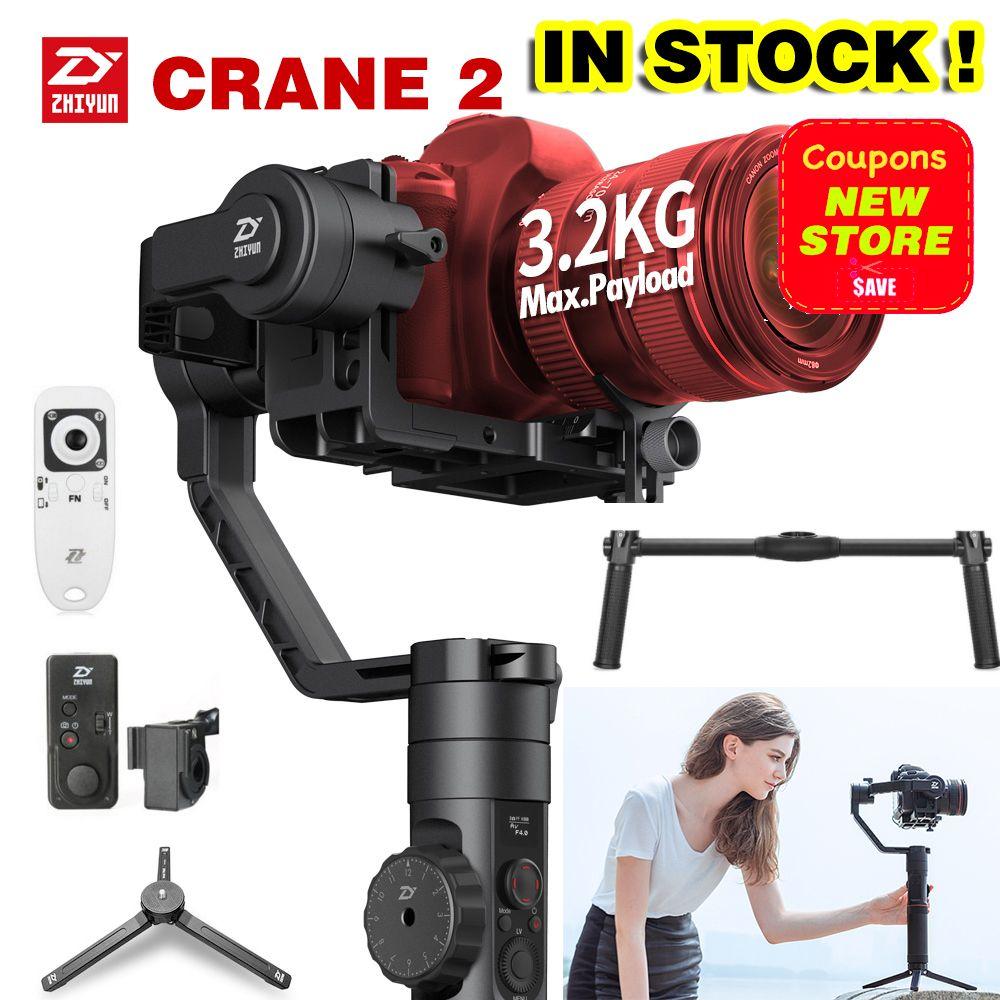 2018 Newest Zhiyun Crane 2 3-Axis Handheld Gimbal Video Camera Gyro Stablizer for DSLR Mirrorless Camera Canon 5D2/5D3/5D4 DHL