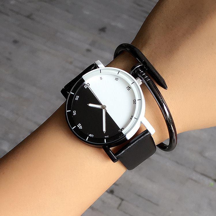 Повседневное бренд Водонепроницаемый черный, белый цвет пара Часы таблицы Мода Harajuku аналоговый Для мужчин Для женщин силиконовые часы 2016 п...