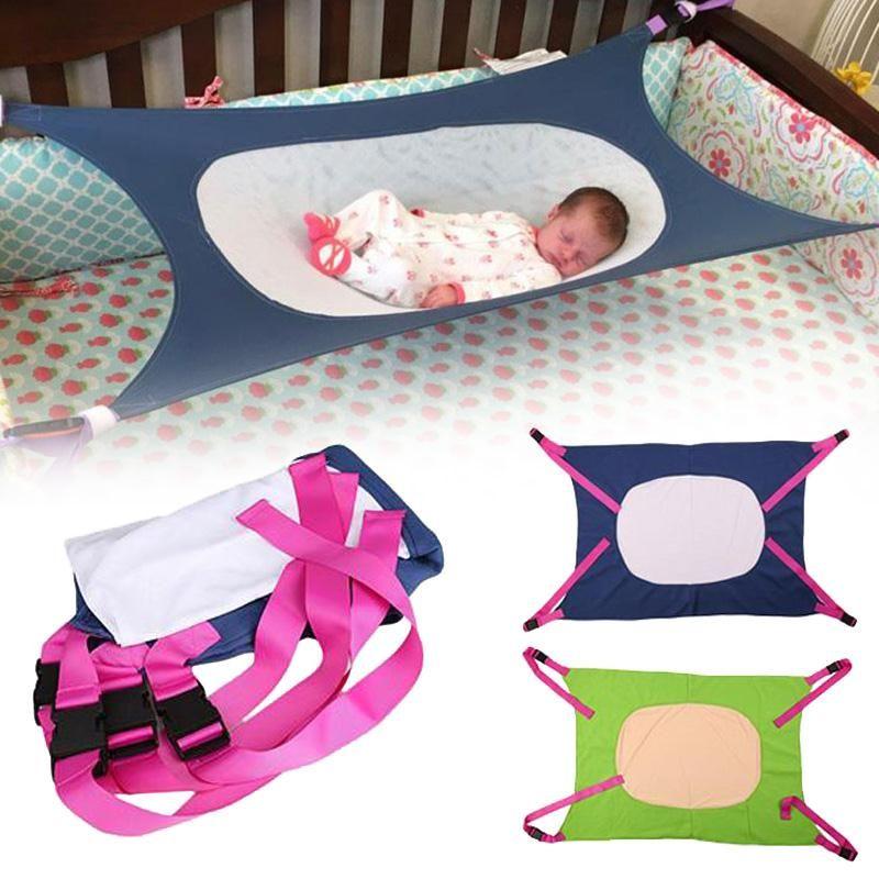 Портативный маленьких Кровати путешествия гамак складной детской кроватки здорового развития аккуратные детская кровать помещении на отк...