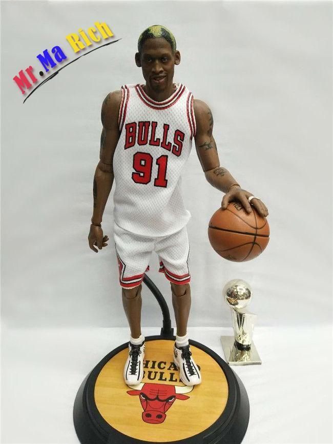 Nba Real Masterpiece Rodman 91# White Jersey 1/6 Action Figure New
