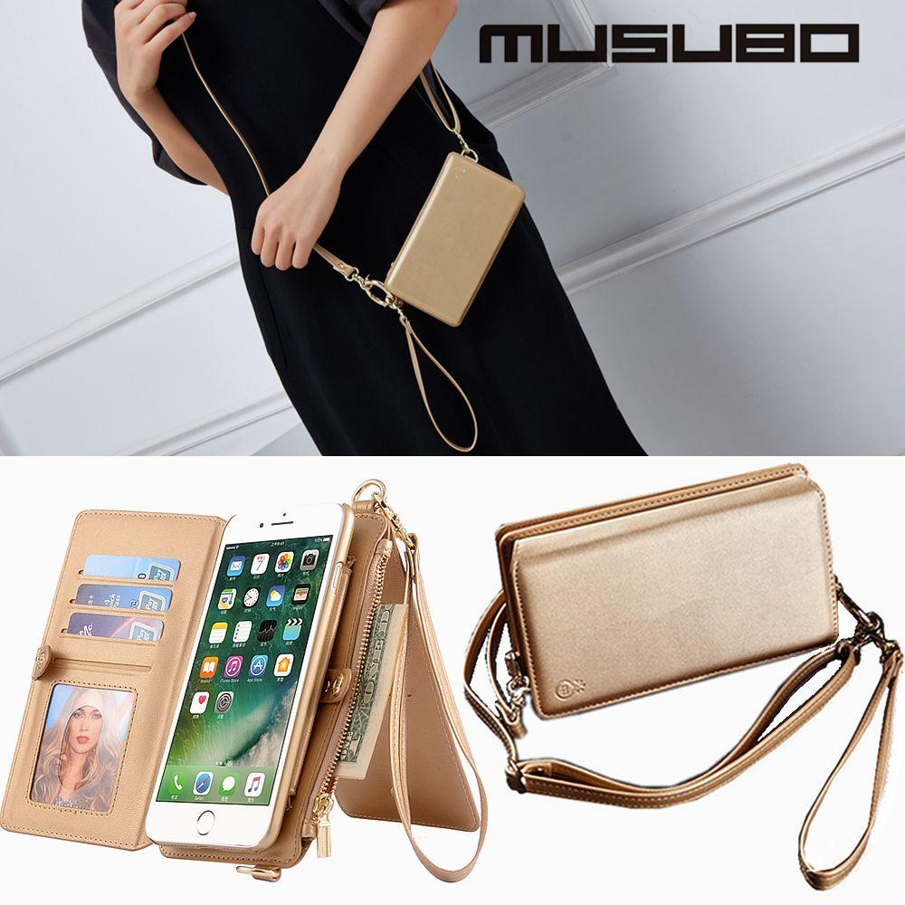 Musubo mode fille étui pour iphone X 7 Plus luxe femmes portefeuille téléphone sac housse pour iphone 8 Plus 6 6s Coque chaude