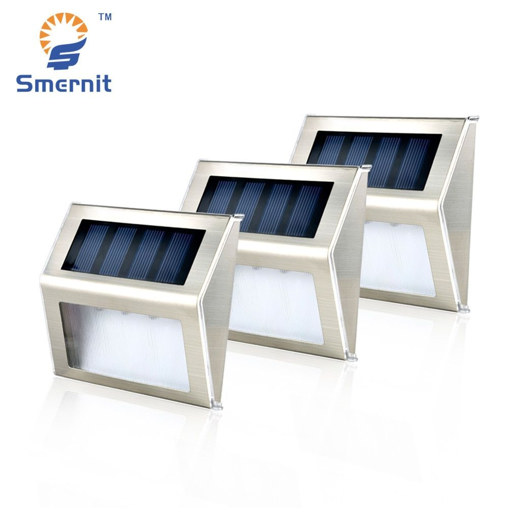 10 pieces Solar Step Lights LED Solar Powered Stair Lights Outdoor Lighting for Steps Paths Patio aterproof Deck Solar Lights