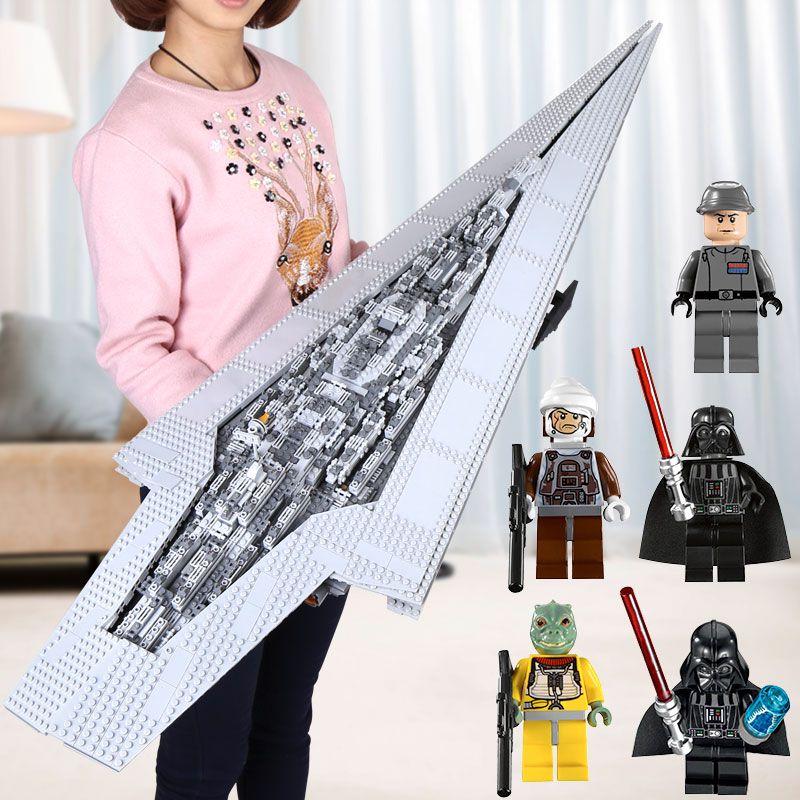 DHL LEPIN 05028 05027 05033 05035 Super Imperial Destroyer Star Model War Building Blocks Brick Executor Gift legoINGys 10221