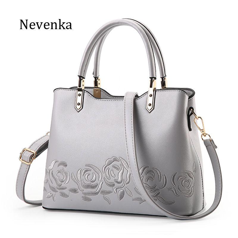 Nevenka 2017 Neue Frauen Tasche Reißverschluss Handtasche Qualität Blume Taschen Stickerei Tote Dame Nationalen Tasche Weibliche Mode Messenger Bags
