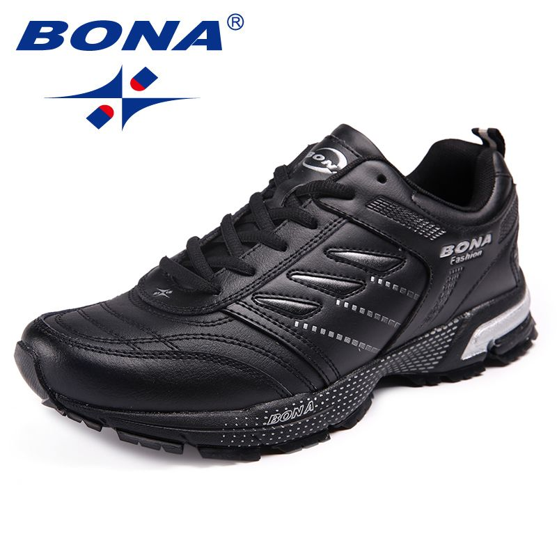 BONA New Arrival Classics Style Men Running Shoes Action Leather Men Athletic Shoes Outdoor Jogging Sneakers Fast Free Shipping